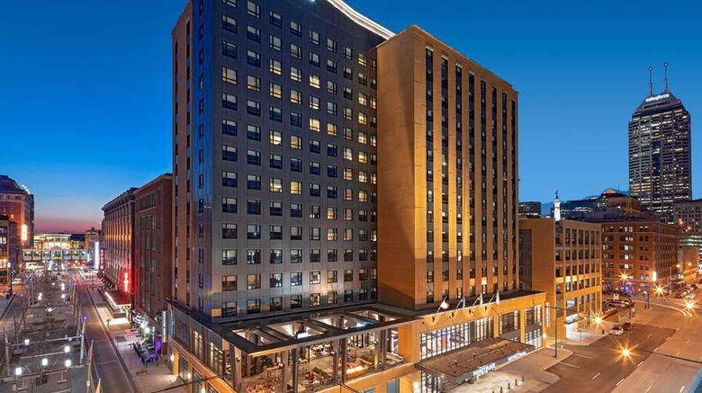 """Hyatt Place Indianapolis Downtown Exterior. Images powered by <a href=""""http://web.iceportal.com"""" target=""""_blank"""" rel=""""noopener"""">Ice Portal</a>."""