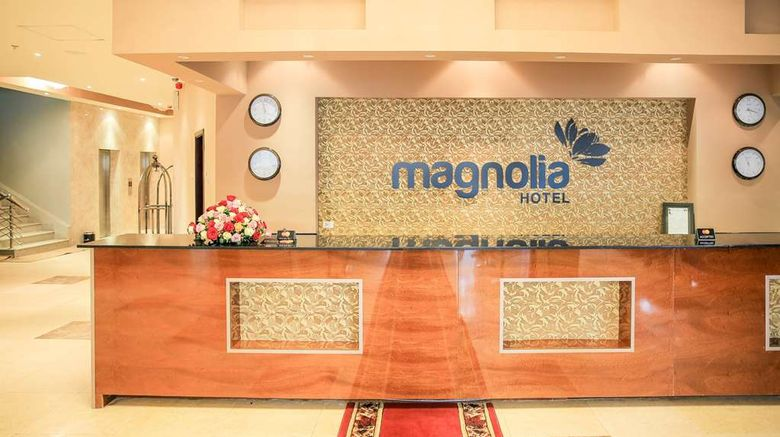 """Magnolia Hotel  and  Conference Center Lobby. Images powered by <a href=""""http://web.iceportal.com"""" target=""""_blank"""" rel=""""noopener"""">Ice Portal</a>."""