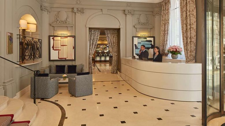 """Villa Hotel Majestic Lobby. Images powered by <a href=""""http://web.iceportal.com"""" target=""""_blank"""" rel=""""noopener"""">Ice Portal</a>."""