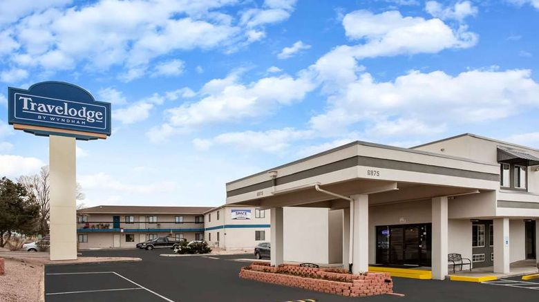 """Travelodge by Wyndham Colorado Springs Exterior. Images powered by <a href=""""http://web.iceportal.com"""" target=""""_blank"""" rel=""""noopener"""">Ice Portal</a>."""