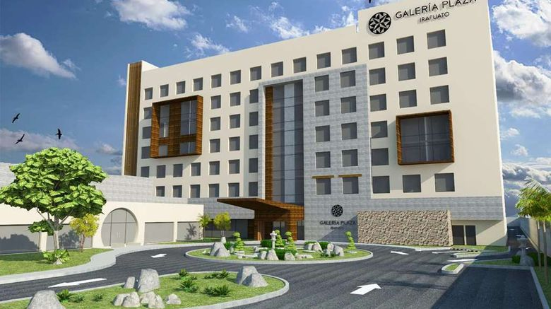 """Hotel Galeria Plaza Irapuato Exterior. Images powered by <a href=""""http://web.iceportal.com"""" target=""""_blank"""" rel=""""noopener"""">Ice Portal</a>."""