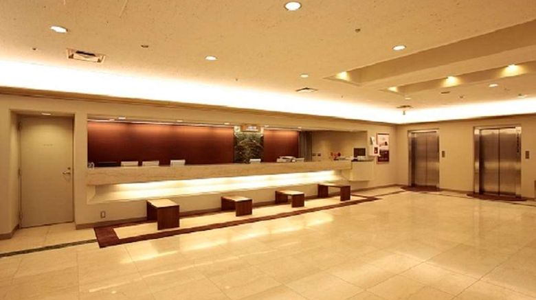 """Osaka Tokyu REI Hotel Lobby. Images powered by <a href=""""http://web.iceportal.com"""" target=""""_blank"""" rel=""""noopener"""">Ice Portal</a>."""