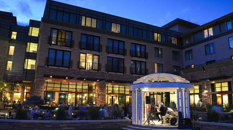 """St Julien Hotel  and  Spa Exterior. Images powered by <a href=""""http://web.iceportal.com"""" target=""""_blank"""" rel=""""noopener"""">Ice Portal</a>."""