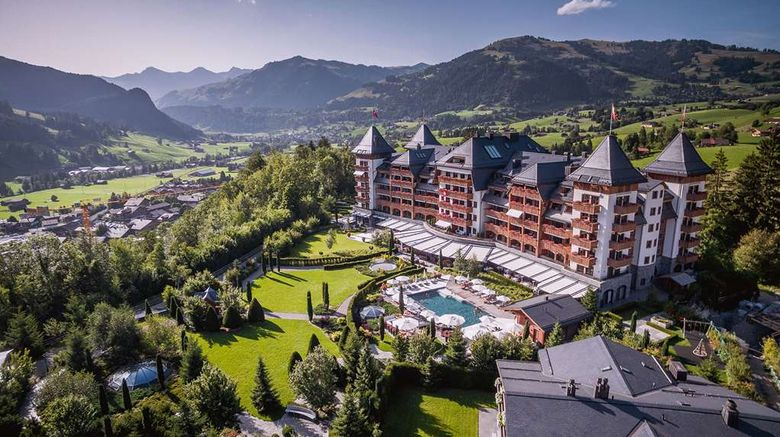 """The Alpina Gstaad Exterior. Images powered by <a href=""""http://web.iceportal.com"""" target=""""_blank"""" rel=""""noopener"""">Ice Portal</a>."""