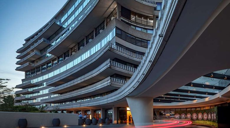 """The Watergate Hotel Exterior. Images powered by <a href=""""http://web.iceportal.com"""" target=""""_blank"""" rel=""""noopener"""">Ice Portal</a>."""