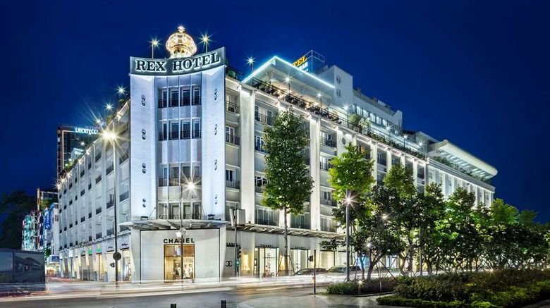 """Rex Hotel Exterior. Images powered by <a href=""""http://web.iceportal.com"""" target=""""_blank"""" rel=""""noopener"""">Ice Portal</a>."""