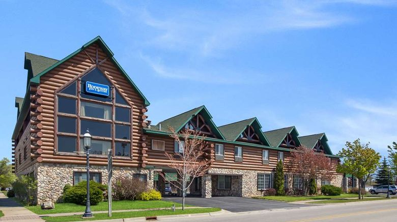 """Rodeway Inn  and  Suites-Mackinaw City Exterior. Images powered by <a href=""""http://web.iceportal.com"""" target=""""_blank"""" rel=""""noopener"""">Ice Portal</a>."""