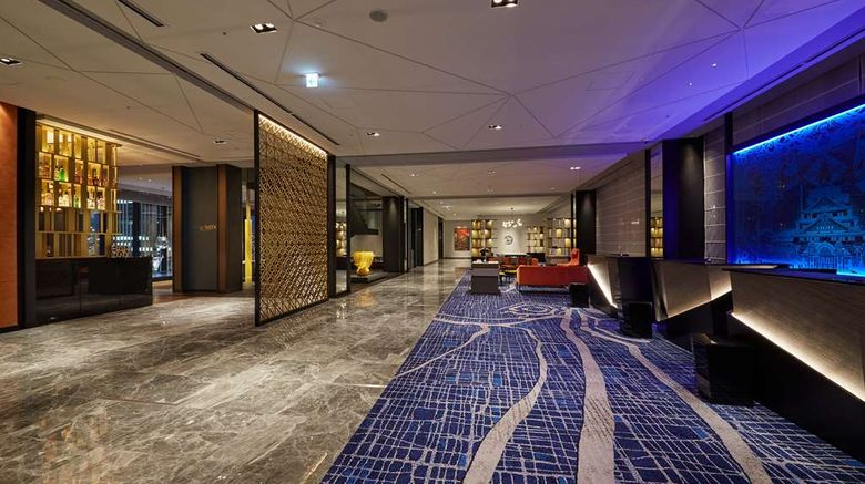 """Osaka Excel Hotel Tokyu Lobby. Images powered by <a href=""""http://web.iceportal.com"""" target=""""_blank"""" rel=""""noopener"""">Ice Portal</a>."""