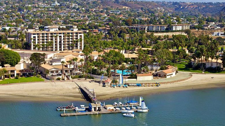 """San Diego Mission Bay Resort Exterior. Images powered by <a href=""""http://web.iceportal.com"""" target=""""_blank"""" rel=""""noopener"""">Ice Portal</a>."""