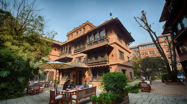 """Dwarikas Hotel Exterior. Images powered by <a href=""""http://web.iceportal.com"""" target=""""_blank"""" rel=""""noopener"""">Ice Portal</a>."""