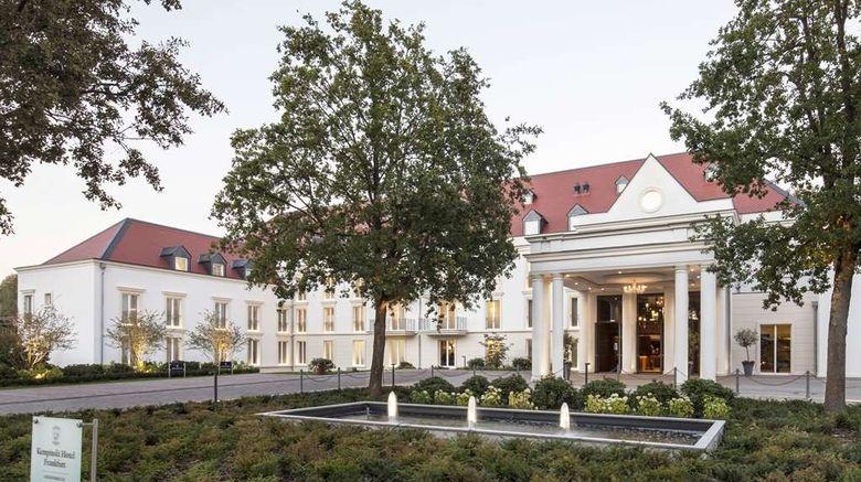 "Kempinski Hotel Frankfurt Exterior. Images powered by <a href=""http://web.iceportal.com"" target=""_blank"" rel=""noopener"">Ice Portal</a>."