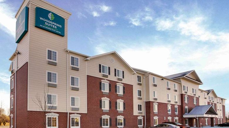 """WoodSpring Suites Frederick Exterior. Images powered by <a href=""""http://web.iceportal.com"""" target=""""_blank"""" rel=""""noopener"""">Ice Portal</a>."""