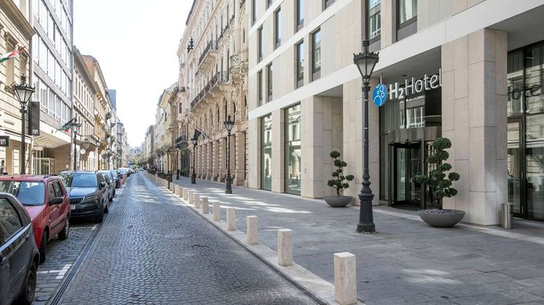 """H2 Hotel Budapest Exterior. Images powered by <a href=""""http://web.iceportal.com"""" target=""""_blank"""" rel=""""noopener"""">Ice Portal</a>."""