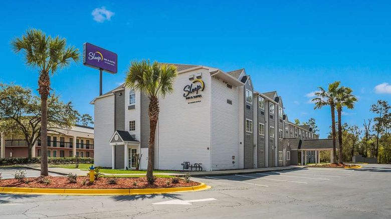 """Sleep Inn  and  Suites Exterior. Images powered by <a href=""""http://web.iceportal.com"""" target=""""_blank"""" rel=""""noopener"""">Ice Portal</a>."""