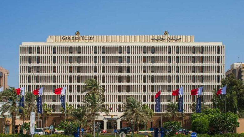 """Golden Tulip Bahrain Exterior. Images powered by <a href=""""http://web.iceportal.com"""" target=""""_blank"""" rel=""""noopener"""">Ice Portal</a>."""