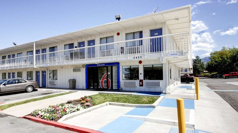 """Motel 6 Woods Cross Exterior. Images powered by <a href=""""http://web.iceportal.com"""" target=""""_blank"""" rel=""""noopener"""">Ice Portal</a>."""