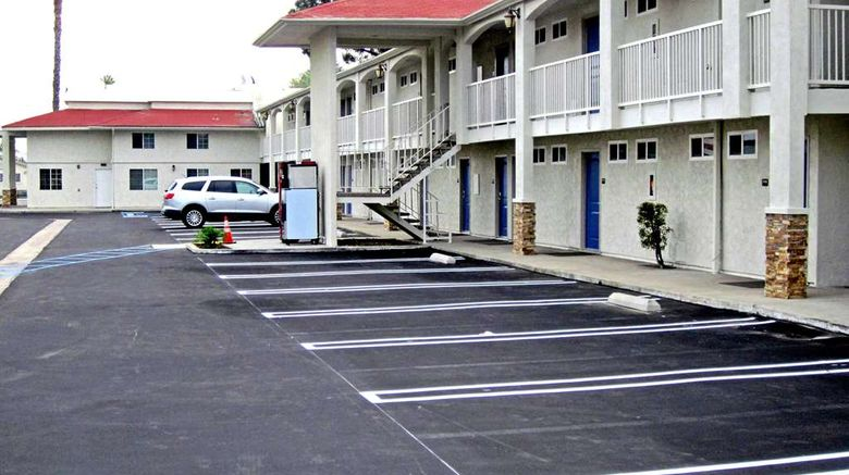 """Motel 6 Anaheim Exterior. Images powered by <a href=""""http://web.iceportal.com"""" target=""""_blank"""" rel=""""noopener"""">Ice Portal</a>."""