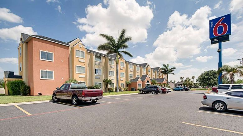 """Motel 6 McAllen East Exterior. Images powered by <a href=""""http://web.iceportal.com"""" target=""""_blank"""" rel=""""noopener"""">Ice Portal</a>."""