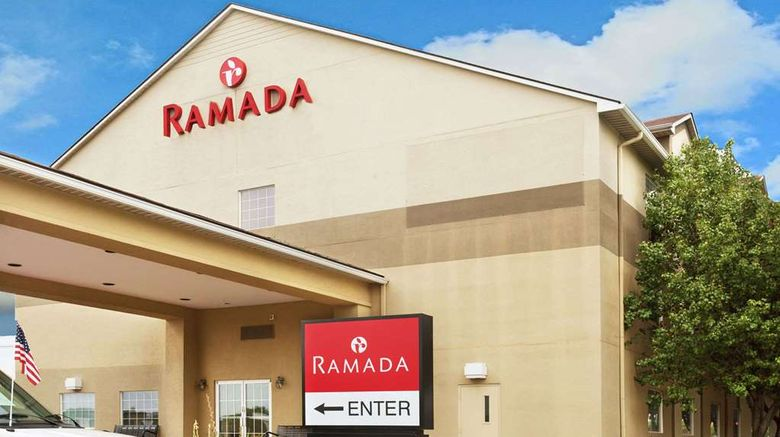 """Ramada Louisville Expo Center Exterior. Images powered by <a href=""""http://web.iceportal.com"""" target=""""_blank"""" rel=""""noopener"""">Ice Portal</a>."""