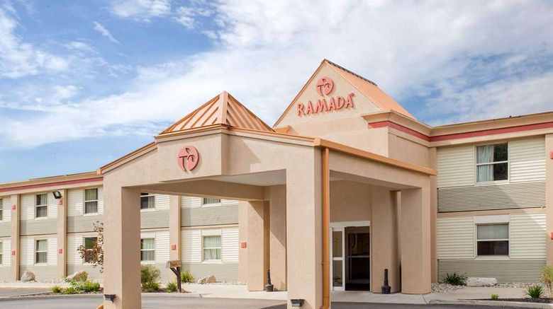 """Ramada Angola/Fremont Area Exterior. Images powered by <a href=""""http://web.iceportal.com"""" target=""""_blank"""" rel=""""noopener"""">Ice Portal</a>."""
