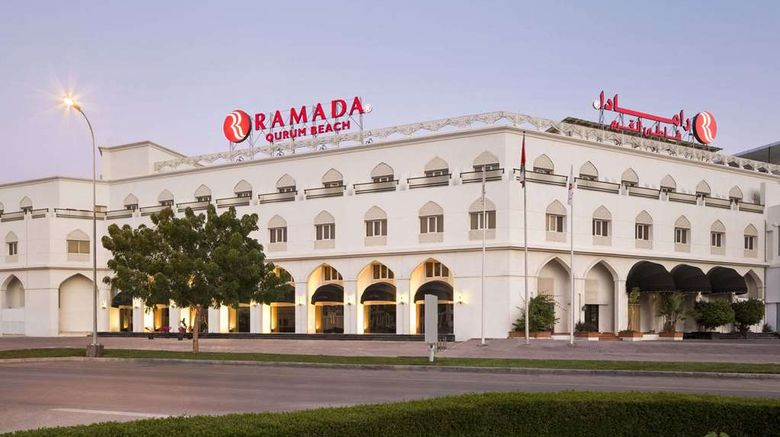 """Ramada Qurum Beach Exterior. Images powered by <a href=""""http://web.iceportal.com"""" target=""""_blank"""" rel=""""noopener"""">Ice Portal</a>."""