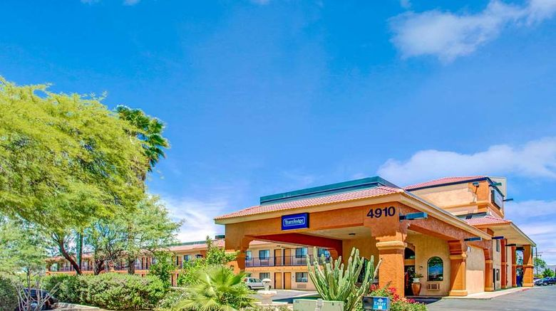 """Travelodge Tucson Exterior. Images powered by <a href=""""http://web.iceportal.com"""" target=""""_blank"""" rel=""""noopener"""">Ice Portal</a>."""