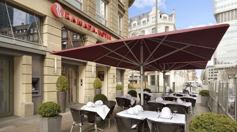 """Ramada Frankfurt City Centre Exterior. Images powered by <a href=""""http://web.iceportal.com"""" target=""""_blank"""" rel=""""noopener"""">Ice Portal</a>."""