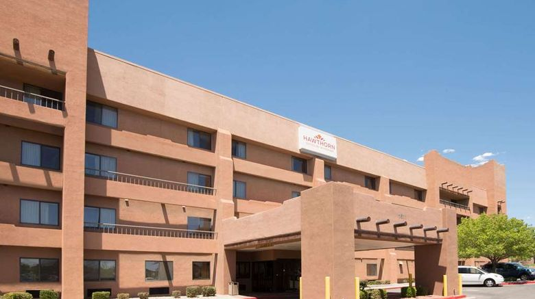 """Hawthorn Suites by Wyndham Albuquerque Exterior. Images powered by <a href=""""http://web.iceportal.com"""" target=""""_blank"""" rel=""""noopener"""">Ice Portal</a>."""