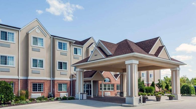 """Microtel Inn  and  Suites Michigan City Exterior. Images powered by <a href=""""http://web.iceportal.com"""" target=""""_blank"""" rel=""""noopener"""">Ice Portal</a>."""