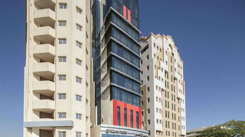 """Ramada Encore by Wyndham Doha Exterior. Images powered by <a href=""""http://web.iceportal.com"""" target=""""_blank"""" rel=""""noopener"""">Ice Portal</a>."""