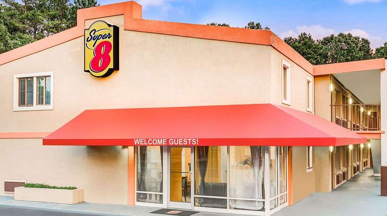 """Super 8 Raleigh Exterior. Images powered by <a href=""""http://web.iceportal.com"""" target=""""_blank"""" rel=""""noopener"""">Ice Portal</a>."""