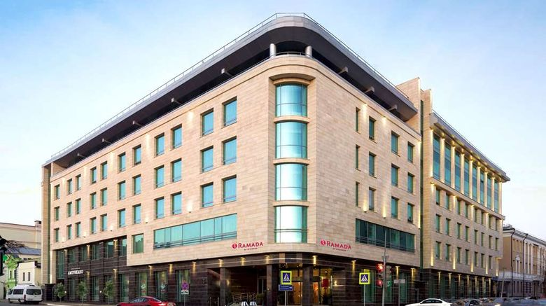 """Ramada Kazan City Center Exterior. Images powered by <a href=""""http://web.iceportal.com"""" target=""""_blank"""" rel=""""noopener"""">Ice Portal</a>."""