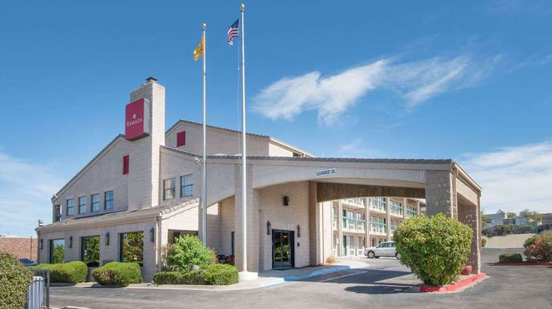 """Ramada Albuquerque Airport Exterior. Images powered by <a href=""""http://web.iceportal.com"""" target=""""_blank"""" rel=""""noopener"""">Ice Portal</a>."""
