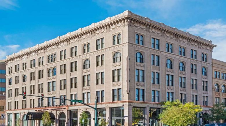 """Mining Exchange, a Wyndham Grand Hotel Exterior. Images powered by <a href=""""http://web.iceportal.com"""" target=""""_blank"""" rel=""""noopener"""">Ice Portal</a>."""