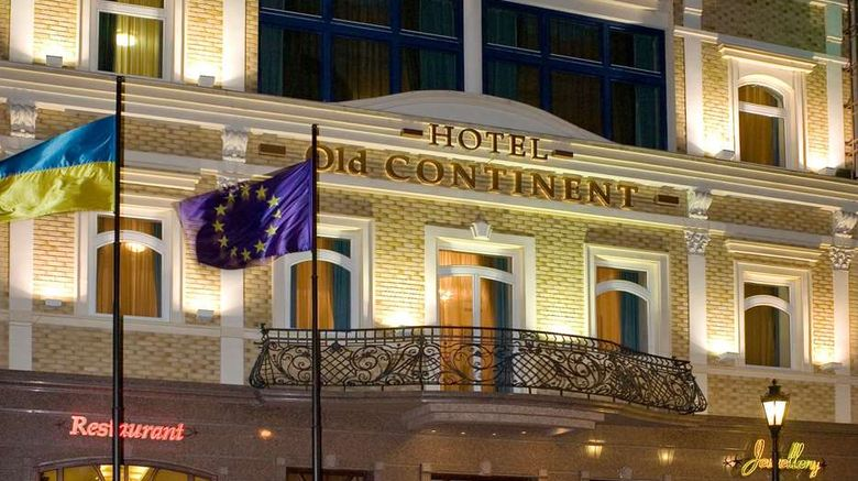 """Old Continent Hotel Exterior. Images powered by <a href=""""http://web.iceportal.com"""" target=""""_blank"""" rel=""""noopener"""">Ice Portal</a>."""