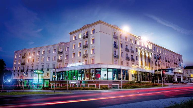 """Grand Hotel Exterior. Images powered by <a href=""""http://web.iceportal.com"""" target=""""_blank"""" rel=""""noopener"""">Ice Portal</a>."""