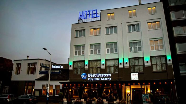 """Hotel Goderie Exterior. Images powered by <a href=""""http://web.iceportal.com"""" target=""""_blank"""" rel=""""noopener"""">Ice Portal</a>."""