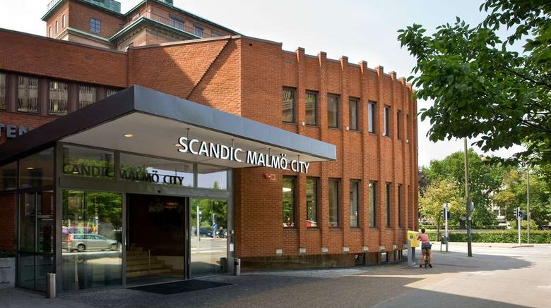 """Scandic Malmo  City Exterior. Images powered by <a href=""""http://web.iceportal.com"""" target=""""_blank"""" rel=""""noopener"""">Ice Portal</a>."""