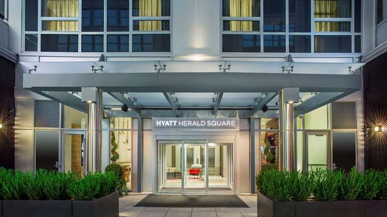 """Hyatt Herald Square New York Exterior. Images powered by <a href=""""http://web.iceportal.com"""" target=""""_blank"""" rel=""""noopener"""">Ice Portal</a>."""