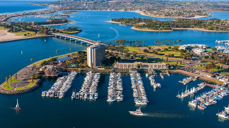 """Hyatt Regency Mission Bay Spa And Marina Exterior. Images powered by <a href=""""http://web.iceportal.com"""" target=""""_blank"""" rel=""""noopener"""">Ice Portal</a>."""