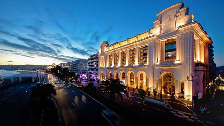 """Hotel Royal Nice Exterior. Images powered by <a href=""""http://web.iceportal.com"""" target=""""_blank"""" rel=""""noopener"""">Ice Portal</a>."""