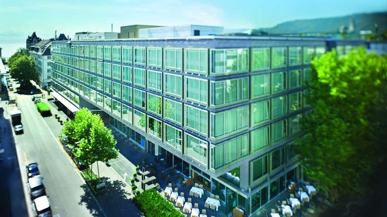 """Park Hyatt Zurich Exterior. Images powered by <a href=""""http://web.iceportal.com"""" target=""""_blank"""" rel=""""noopener"""">Ice Portal</a>."""