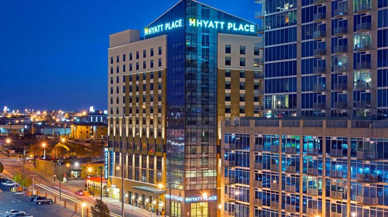"""Hyatt Place Nashville Downtown Exterior. Images powered by <a href=""""http://web.iceportal.com"""" target=""""_blank"""" rel=""""noopener"""">Ice Portal</a>."""