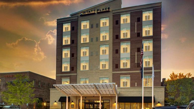 """Hyatt Place Columbia/Downtown/The Vista Exterior. Images powered by <a href=""""http://web.iceportal.com"""" target=""""_blank"""" rel=""""noopener"""">Ice Portal</a>."""