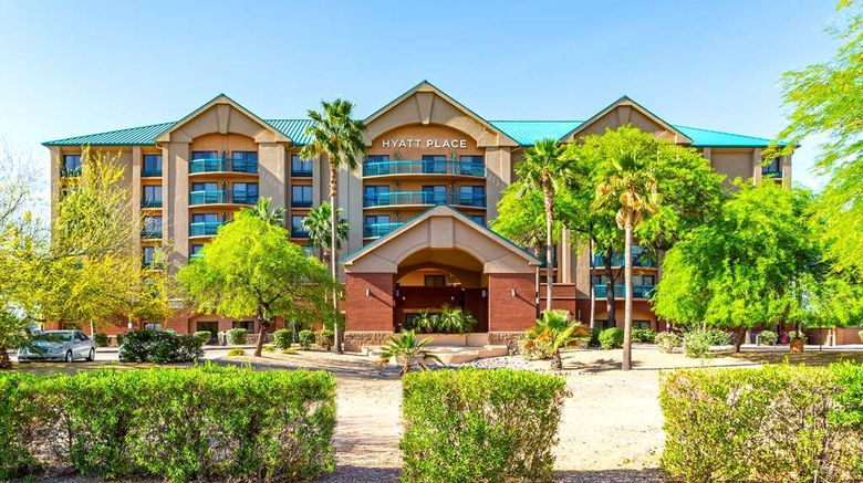 """Hyatt Place Tempe/Phoenix Airport Exterior. Images powered by <a href=""""http://web.iceportal.com"""" target=""""_blank"""" rel=""""noopener"""">Ice Portal</a>."""