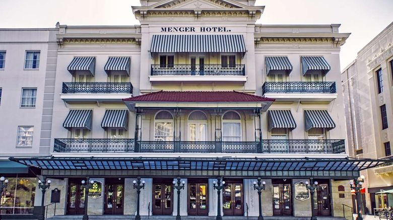 "The Menger Hotel Exterior. Images powered by <a href=""http://web.iceportal.com"" target=""_blank"" rel=""noopener"">Ice Portal</a>."