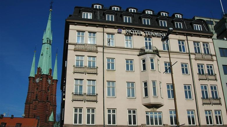"""Hotel Terminus Stockholm Exterior. Images powered by <a href=""""http://web.iceportal.com"""" target=""""_blank"""" rel=""""noopener"""">Ice Portal</a>."""