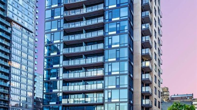 """Hotel BLU Vancouver Exterior. Images powered by <a href=""""http://web.iceportal.com"""" target=""""_blank"""" rel=""""noopener"""">Ice Portal</a>."""