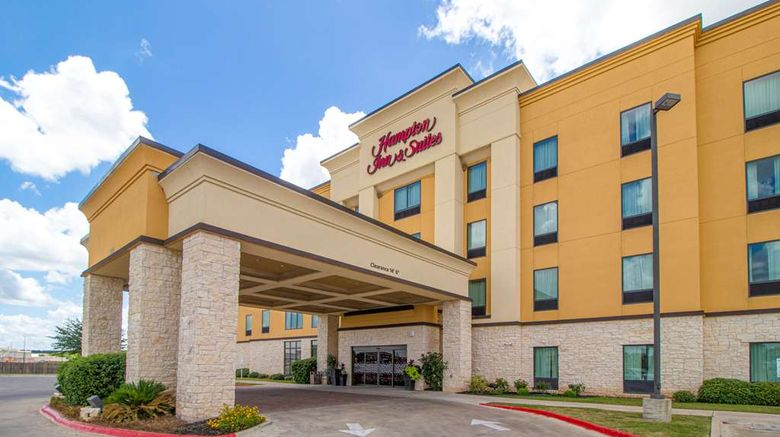 """Hampton Inn  and  Suites Bastrop Exterior. Images powered by <a href=""""http://web.iceportal.com"""" target=""""_blank"""" rel=""""noopener"""">Ice Portal</a>."""