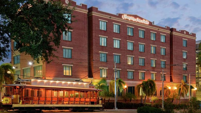 """Hampton Inn  and  Suites Ybor City/Downtown Exterior. Images powered by <a href=""""http://web.iceportal.com"""" target=""""_blank"""" rel=""""noopener"""">Ice Portal</a>."""